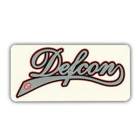 DEFCONLOGO ステッカー カラー GREY RED 【デフコン ステッカー】【メール便対応】715005