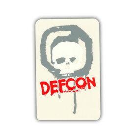 DEFCON ステッカー カラー GRAY RED 【デフコン ステッカー】【メール便対応】715005