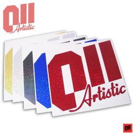 011 Artistic LOGO ロゴ ステッカー RED/BLUE/BLACK/SILVER/GOLD 【ゼロワンワンアーティスティック】