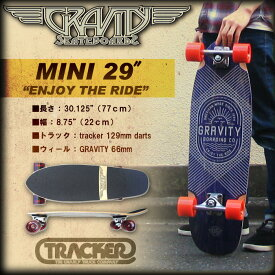 グラビティー MINI 29インチ ENJOY THE RIDE 【GRAVITY MINI29 】 【スケボー スケートボード クルーザー】【日本正規品】【あす楽 送料無料】715005