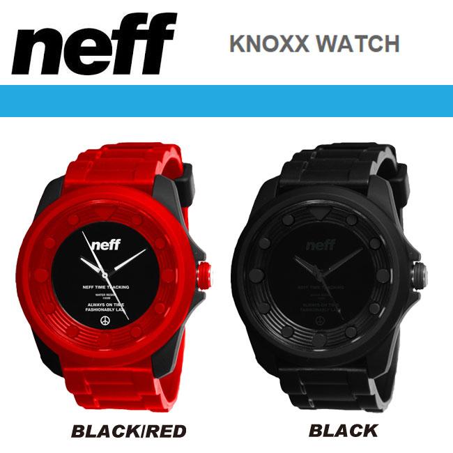 NEFF 時計 KNOXX WATCH カラー BLACK×RED/BLACK 【ネフ 腕時計】【日本正規品】【あす楽】715005