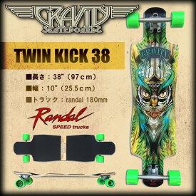 グラビティ スケボー GRAVITY SKATEBOARDS TWIN KICK 38 【GRAVITY TK-38】【ロング スケートボード】【送料無料 あす楽】【日本正規品】715005