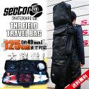 セクター9 SECTOR9 スケートバッグ THE FIELD TRAVEL BAG/BLACK 【スケートボードバック 鞄 ケース バックパック】【…