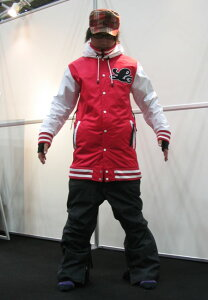 LUVE SOUL ジャケット RED SOUL パンツ D-BLACK (デニム調) 上下セット 【スノーボード ウェア】【日本正規品】