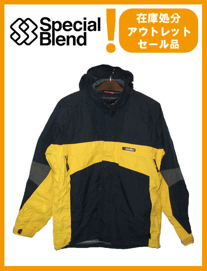 SPECIAL BLEND MERIDIAN HOODED BAND JACKET カラー YELLOW×NAVY 【スペシャルブレンド ジャケット】【スノーボード ウェア】