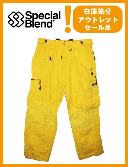 SPECIAL BLEND MERIDIAN ZIP CARGO PANTS カラー SUPER LEMON 【スペシャルブレンド パンツ】【スノーボード ウェア】
