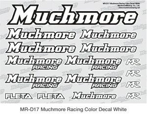 MR-D17 【Muchmore Racing/マッチモア レーシング】 Muchmore Racing ロゴデカール:白