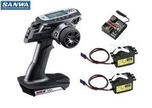 101A32502A 【SANWA/サンワ/三和電子機器】 MX-6 (NORMAL) 送信機・受信機・SRM-102Zサーボ×2付セット