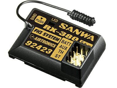 107A41074A 【SANWA/サンワ/三和電子機器】 RX-380 2.4GHz 3ch FHSS3 受信機