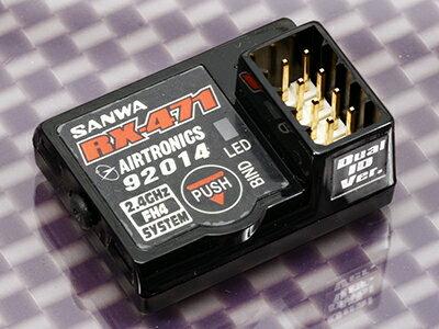 107A41151A 【SANWA/サンワ/三和電子機器】 RX-471 Dual-ID Ver 2.4GHz 4ch FHSS4/FHSS3 受信機