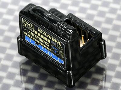 107A41311A 【SANWA/サンワ/三和電子機器】 RX-481WP 2.4GHz 4ch FHSS4/FHSS3 WATERPROOF アンテナ内蔵型受信機