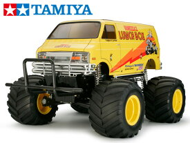 !【TAMIYA/タミヤ】 58347 1/12 電動RC ランチボックス(2005)組立キット+45053 ファインスペック電動RCドライブセット+チャンプオリジナル:フルボールベアリング(完成品) ≪ラジコン≫