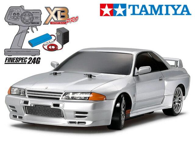 !【タミヤ】 57783 XB スカイラインGT-R (R32) (TT-01Dシャーシ) ドリフトスペック チャンプオリジナル XBビギナーセット(タミヤ純正予備バッテリー1本・急速充電器・単三乾電池4本付)