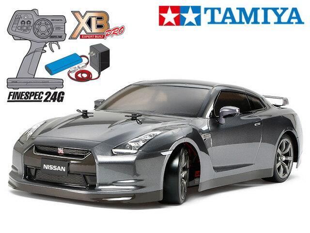 !【タミヤ】 57801 XB NISSAN GT-R(TT-01Dシャーシ TYPE-Eシャーシ)ドリフトスペック チャンプオリジナル XBビギナーセット(タミヤ純正予備バッテリー1本・急速充電器・単三乾電池4本付)