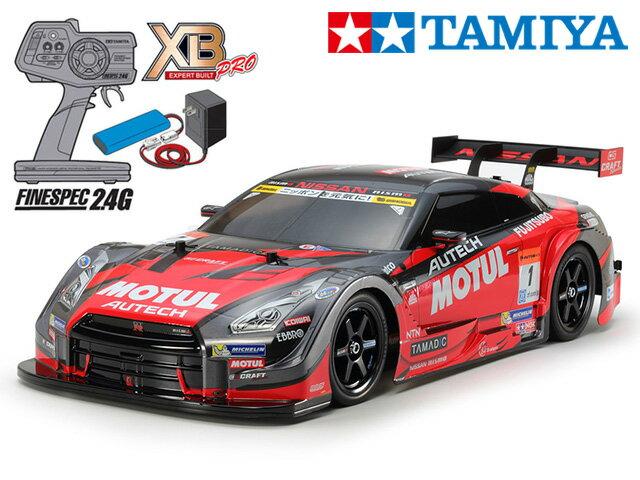 !【タミヤ】 57892 XB MOTUL AUTECH GT-R(TT-02シャーシ) チャンプオリジナル XBビギナーセット(タミヤ純正予備バッテリー1本・急速充電器・単三乾電池4本付)
