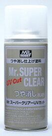 クレオス/B523/Mr.スーパークリアーUVカット(溶剤系スプレー) つや消し