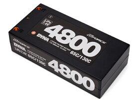 【ネコポス対応】【基本送料無料】G-FORCE(ジーフォース)/GFG006/DYNA LiPoバッテリー 7.4V 4800mAh(ショートサイズ)