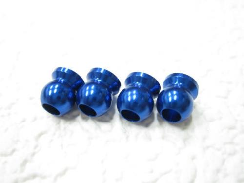 【ネコポス対応】KN企画/KN-DP35KB/【RC926】 アルミショックエンドボール(KNブルー/4個入) ドリパケ/D-MAX用