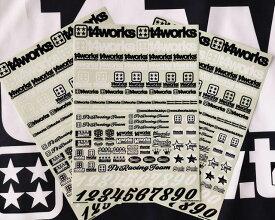 T4WORKS/T4-STK01/t4works オリジナルロゴステッカーキット A4サイズ