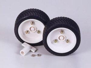 タミヤ/70111 スポーツタイヤセット(56mm径) (2個入) ※3mm六角シャフト・ネジ付4mm径シャフトに対応 工作 パーツ
