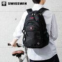 SWISSWIN リュック リュックサック ビジネスリュック メンズ SW9130 スイスウィン ブラック 撥水 PC対応 大容量 通勤 出張 旅行【ポイント10倍】【送料無料】