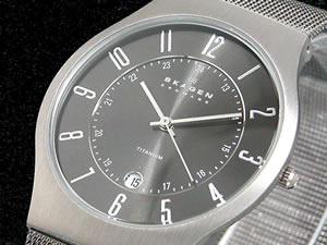 スカーゲン SKAGEN 腕時計 ウルトラスリム チタン 233XLTTM【楽ギフ_包装】【ポイント10倍】