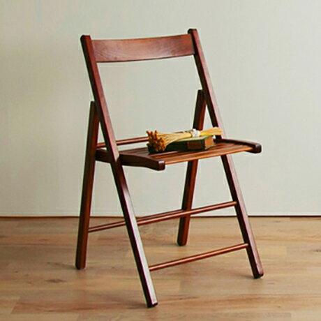 ダイニングチェア チェア チェアー 木製 折りたたみ 折り畳み 北欧 コンパクト イタリア製折り畳みチェア(代引不可)【ポイント10倍】【送料無料】