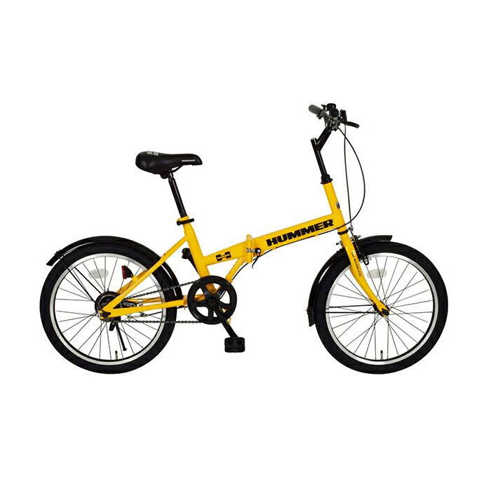 ハマー 折りたたみ自転車 20インチ MG-HM20R イエロー(代引不可)【ポイント10倍】【送料無料】【smtb-f】
