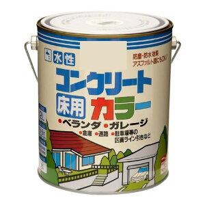 ニッペ ホームペイント コンクリート床・アスファルト用塗料 水性コンクリートカラー 2L ホワイト【送料無料】