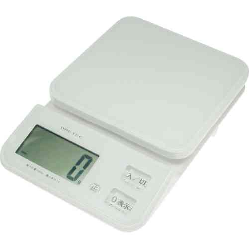 DRETEC キッチンスケール クリスタルスケール2kg はかり 数字が見やすい大画面 KS-221WT【ポイント10倍】