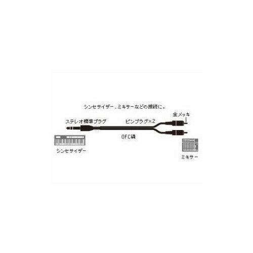Audio-Technica オーディオテクニカ ステレオ標準プラグ⇔ピンプラグ×2:ラインケーブル/3.0m ATL446A/3.0 家電【ポイント10倍】【int_d11】