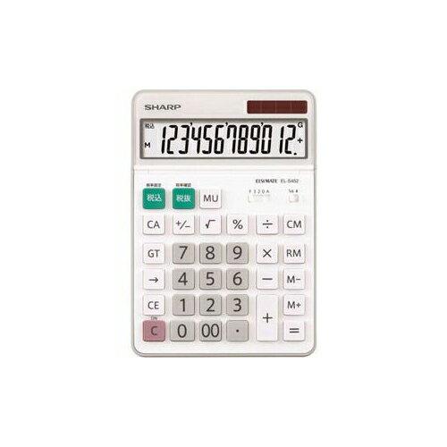 SHARP 卓上電卓 12桁 EL-S452X(代引不可)【ポイント10倍】
