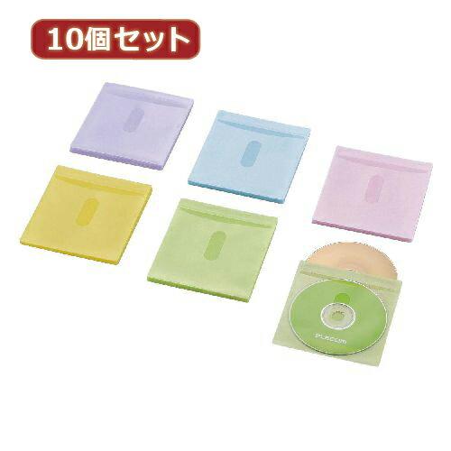 【10個セット】エレコム Blu-ray・CD・DVD対応不織布ケース タイトルカード CCD-NIWB60ASO CCD-NIWB60ASOX10(代引不可)【ポイント10倍】