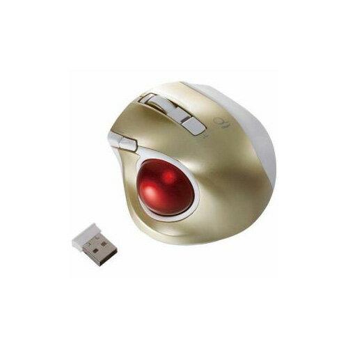 ナカバヤシ ワイヤレスレーザートラックボールマウス USB 2.4GHz 静音・コンパクトモデル(5ボタン・ゴールド) MUS-TRLF132GL(代引不可)【ポイント10倍】【送料無料】