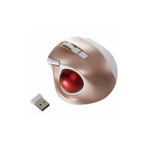 ナカバヤシ ワイヤレスレーザートラックボールマウス USB 2.4GHz 静音・コンパクトモデル(5ボタン・ピンク) MUS-TRLF132P(代引不可)【ポイント10倍】【送料無料】
