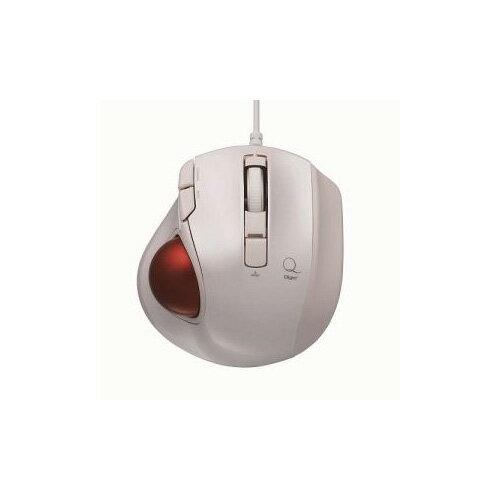 ナカバヤシ 小型有線静音5ボタン トラックボールマウス ホワイト MUS-TULF133W(代引不可)【ポイント10倍】【送料無料】