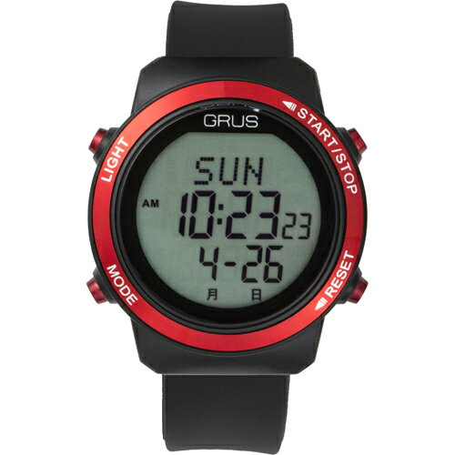 GRUS 腕時計 歩幅計測 ウォーキングウォッチ GRS001-01(代引不可)【ポイント10倍】【送料無料】