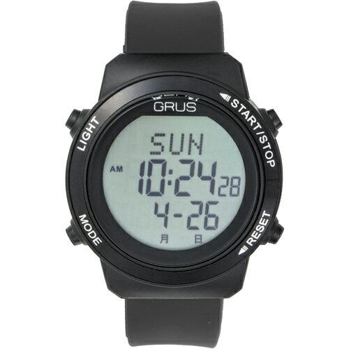 GRUS 腕時計 歩幅計測 ウォーキングウォッチ GRS001-02(代引不可)【ポイント10倍】【送料無料】