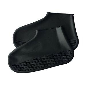 エツミ 防水シューズカバー Mサイズ ブラック V-82310 梅雨 雨 靴 カバー ケア(代引不可)