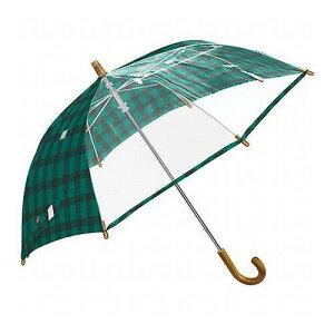 mikuni ミクニ 長傘 Kids Umbrella ギンガム グリーン 55cm GG-04984 傘 雨傘 梅雨 雨 カサ おしゃれ(代引不可)
