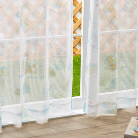 トイストーリー レースカーテン 2枚組 幅100cm 丈133cm 丈176cm 丈198cm 洗える ウォッシャブル 北欧 Disney ディズニー(代引不可)【送料無料】