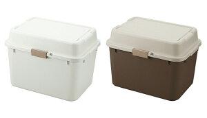2個セット 日本製 収納ボックス フタ付き プラスチック コンテナボックス 屋外 ガーデニング アウトドア キャンプ ストッカー(代引不可)【送料無料】