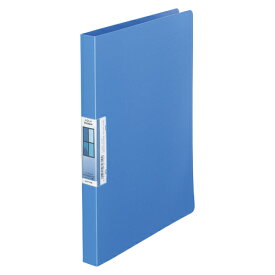 LIHIT LAB AQUA Window パンチレスファイル A4 青 1冊【ポイント10倍】