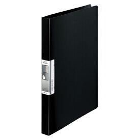 LIHIT LAB AQUA Window パンチレスファイル A4 黒 1冊【ポイント10倍】
