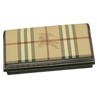 巴宝莉巴宝莉长钱包长标记 3207111 YENWLT 赫马基特经典 CHEC/巧克力