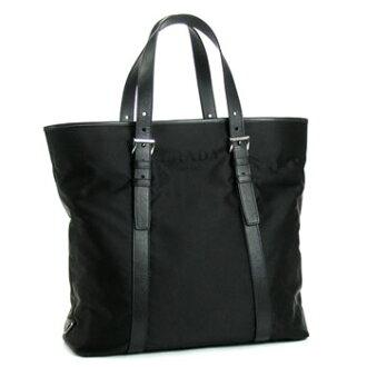 Prada Tote Bag Nylon Logo Jacquard Va0794 Nero Bk