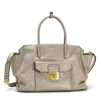 Miu Miu MIUMIU handbags RN1077 POMICE GY/SI P16Sep15