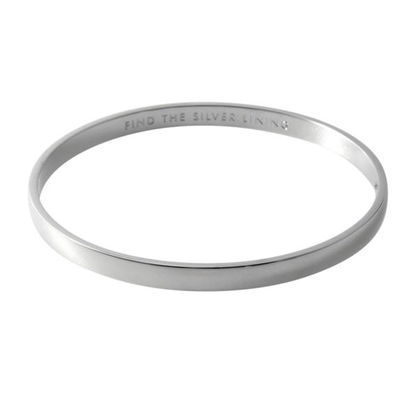kate Spade (ケイトスペード) WBRU9167-040 Silver ヒンジ バングル ブレスレット Idiom Bangles 「FIND THE SILVER LINING」【代引不可】【ポイント10倍】