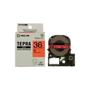 (まとめ買い)キングジム テプラPROテープ SC36R 赤に黒文字 36mm 【×2セット】