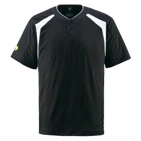 デサント(DESCENTE) ベースボールシャツ(2ボタン) (野球) DB205 ブラック L【ポイント10倍】